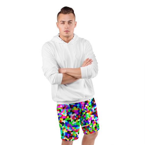 Мужские шорты 3D спортивные  Фото 05, Цветной шум