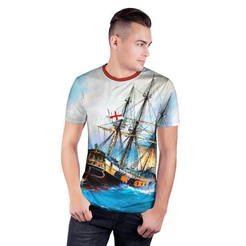 Мужская футболка 3D спортивная Корабль Фото 01