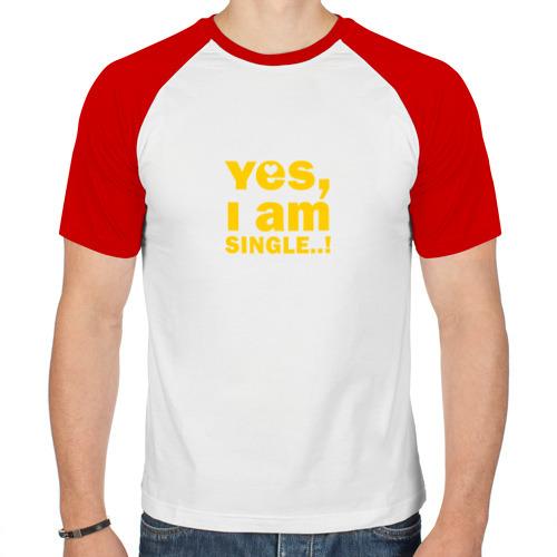 Мужская футболка реглан  Фото 01, Yes, I am single 2