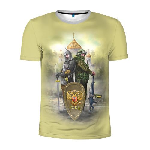 Мужская футболка 3D спортивная Русь