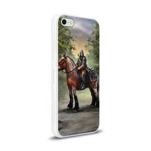 Чехол для Apple iPhone 5/5S силиконовый глянцевый  Фото 02, Конь. Русь