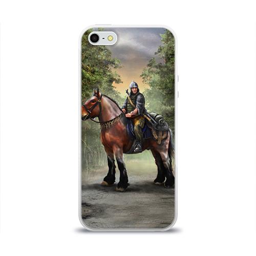 Чехол для Apple iPhone 5/5S силиконовый глянцевый  Фото 01, Конь. Русь