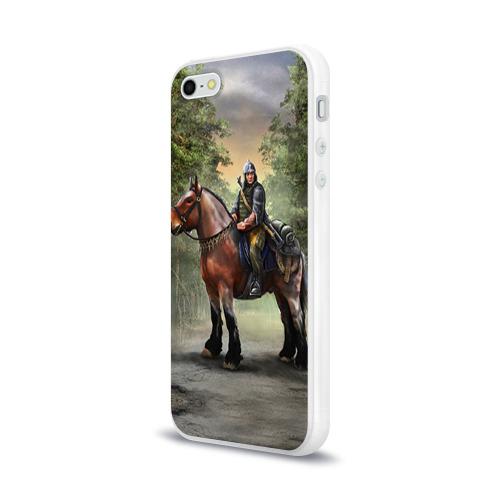 Чехол для Apple iPhone 5/5S силиконовый глянцевый  Фото 03, Конь. Русь