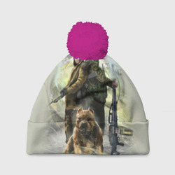 Солдаты и собака