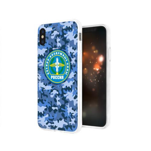 Чехол для Apple iPhone X силиконовый глянцевый  Фото 03, ВВС России