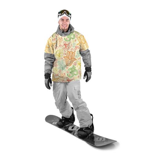 Накидка на куртку 3D  Фото 03, Цветочные узоры