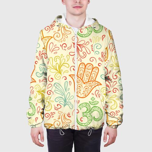Мужская куртка 3D  Фото 04, Цветочные узоры
