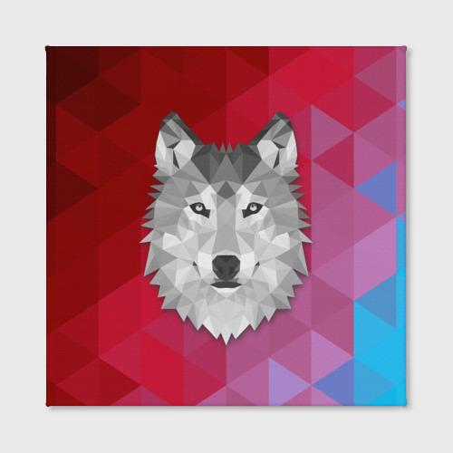 Холст квадратный  Фото 02, Полигональный волк