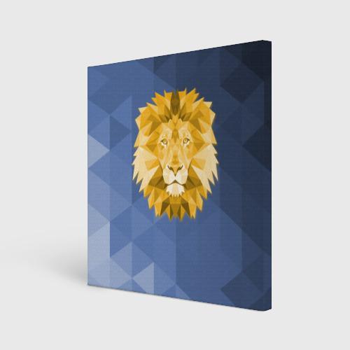 Холст квадратный  Фото 01, Полигональный Лев