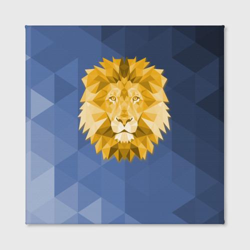 Холст квадратный  Фото 02, Полигональный Лев