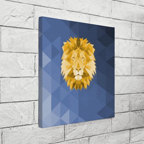 Холст квадратный  Фото 03, Полигональный Лев