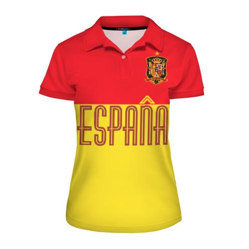 Женская рубашка поло 3D Сборная Испании по футболу