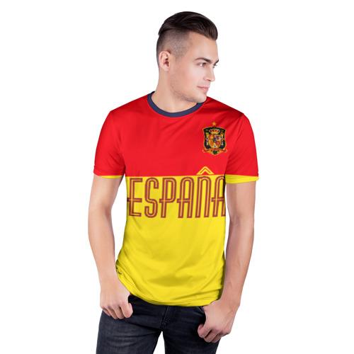 Мужская футболка 3D спортивная Сборная Испании по футболу Фото 01