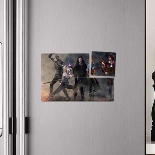 Магнитный плакат 3Х2 Ведьмак (Главные герои) Фото 01