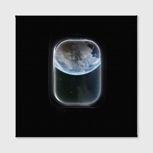 Холст квадратный  Фото 02, Земля в иллюминаторе