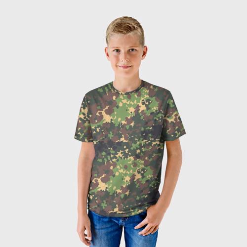 Детская футболка 3D Камуфляж Скол