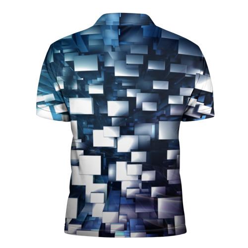Мужская рубашка поло 3D  Фото 02, Абстракция