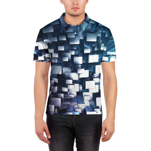 Мужская рубашка поло 3D  Фото 03, Абстракция