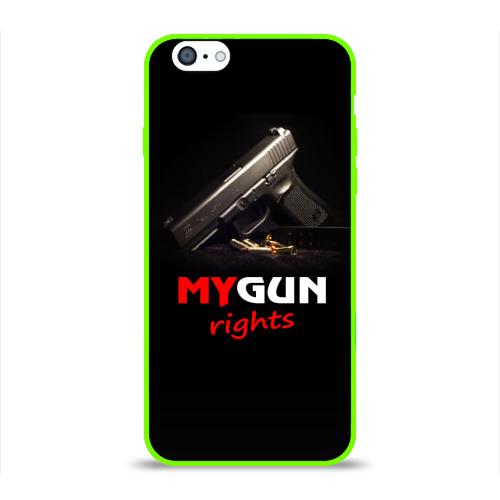 Чехол для Apple iPhone 6 силиконовый глянцевый  Фото 01, Мой пистолет прав.