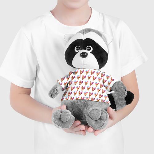Енотик в футболке 3D  Фото 04, Мороженое в рожках