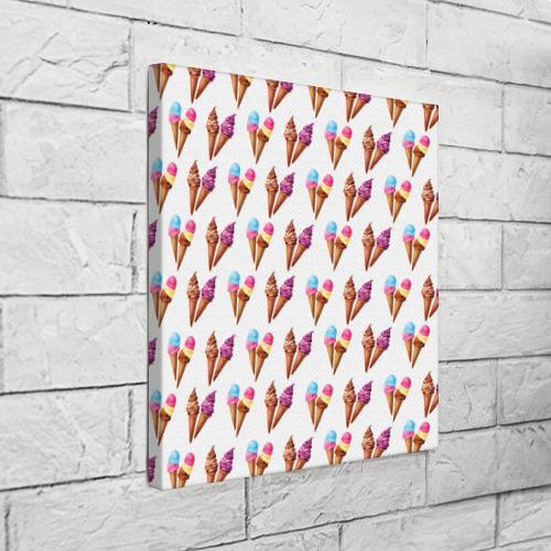 Холст квадратный  Фото 03, Мороженое в рожках