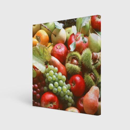 Холст квадратный  Фото 01, Фрукты и ягоды