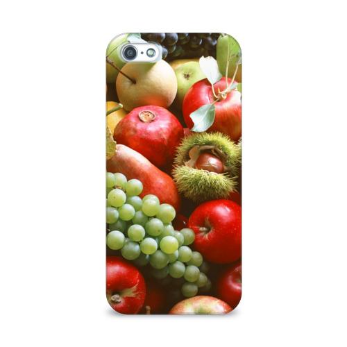 Чехол для Apple iPhone 5/5S 3D  Фото 01, Фрукты и ягоды