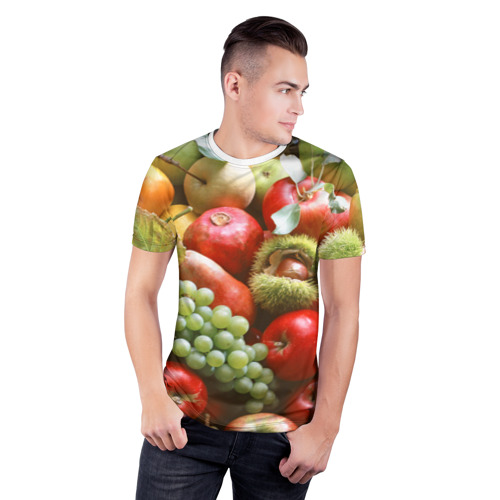 Мужская футболка 3D спортивная  Фото 03, Фрукты и ягоды