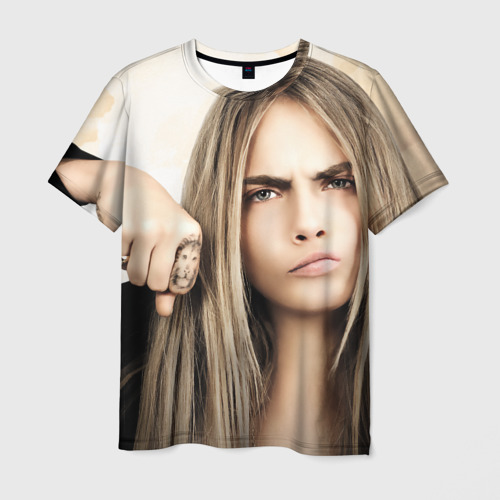 Мужская футболка 3D Cara Delevingne