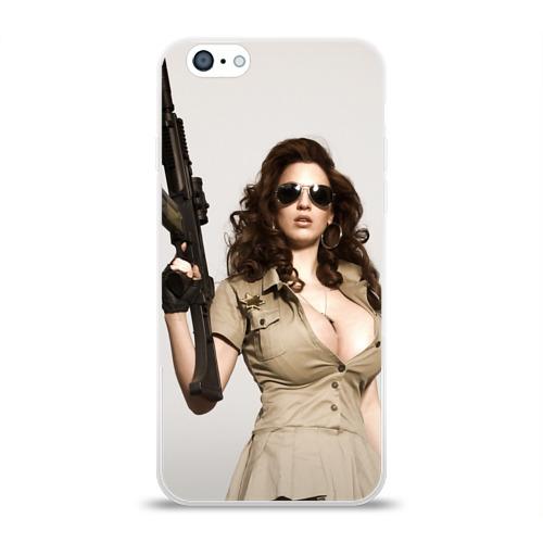 Чехол для Apple iPhone 6 силиконовый глянцевый  Фото 01, Шериф