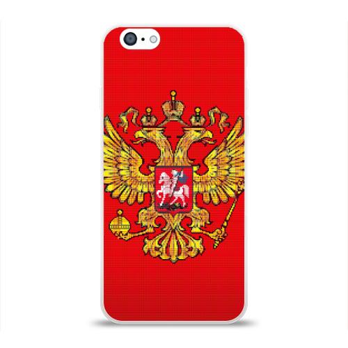 Чехол для Apple iPhone 6 силиконовый глянцевый  Фото 01, Герб России