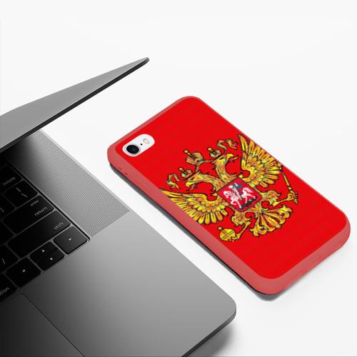 Чехол для iPhone 6Plus/6S Plus матовый Герб России Фото 01