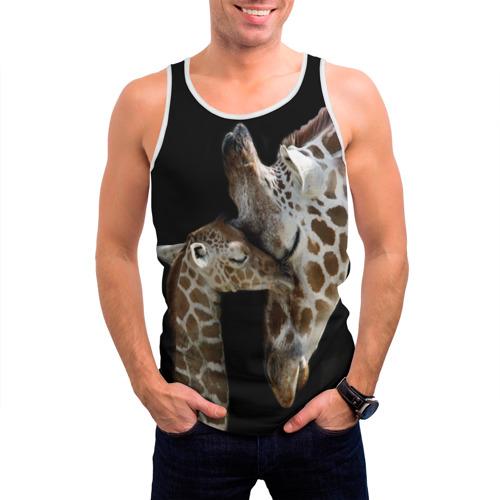 Мужская майка 3D  Фото 03, Жирафы