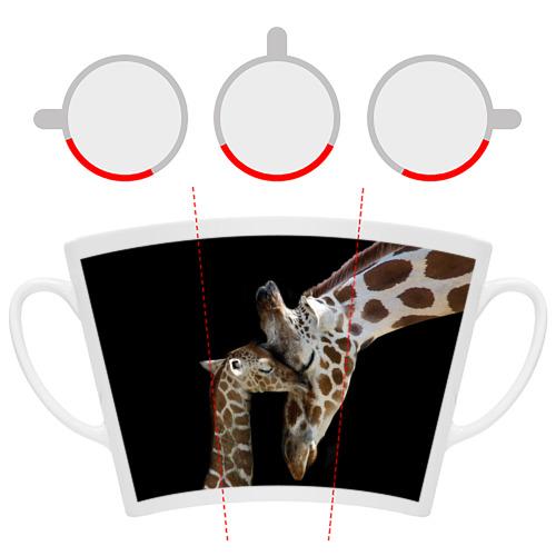 Кружка Латте  Фото 06, Жирафы