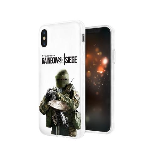 Чехол для Apple iPhone X силиконовый глянцевый  Фото 03, Rainbow Six Siege