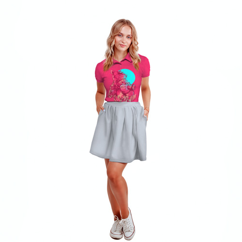Женская рубашка поло 3D Hotline Miami 3 Фото 01