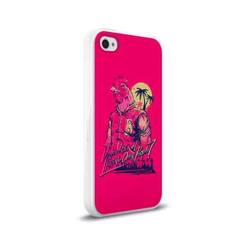 Чехол для Apple iPhone 4/4S силиконовый глянцевый  Фото 02, Hotline Miami 4