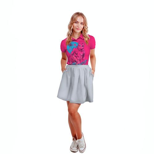 Женская рубашка поло 3D Hotline Miami 6 Фото 01
