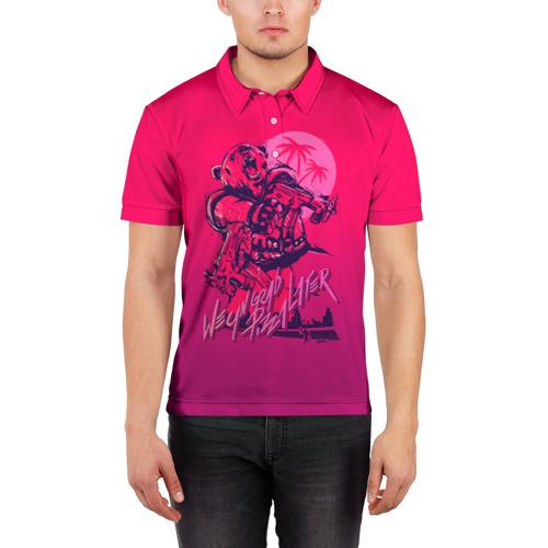 Мужская рубашка поло 3D Hotline Miami 7 Фото 01