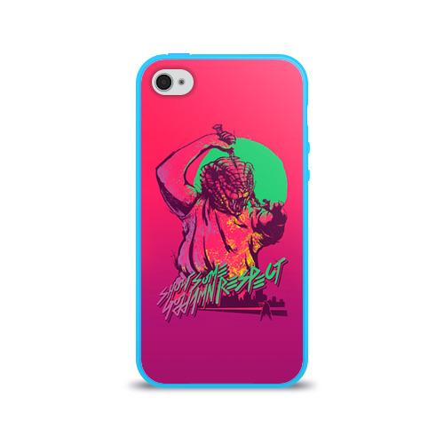 Чехол для Apple iPhone 4/4S силиконовый глянцевый Hotline Miami 13 Фото 01