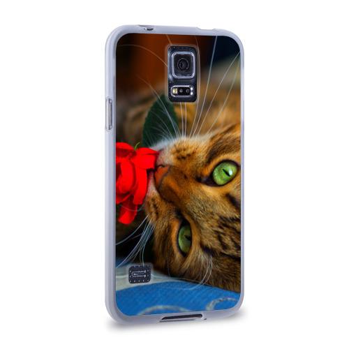 Чехол для Samsung Galaxy S5 силиконовый  Фото 02, Кошечка