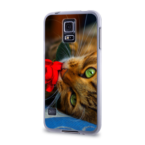 Чехол для Samsung Galaxy S5 силиконовый  Фото 03, Кошечка