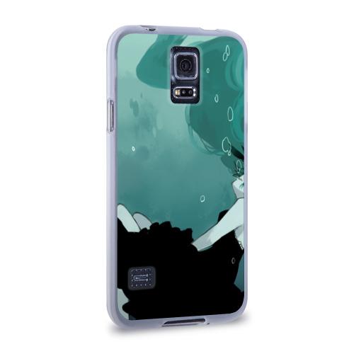 Чехол для Samsung Galaxy S5 силиконовый  Фото 02, Хацуне под водой