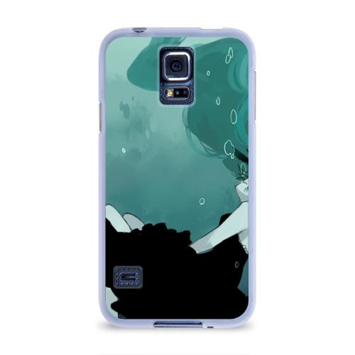 Чехол для Samsung Galaxy S5 силиконовый  Фото 01, Хацуне под водой