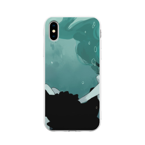 Чехол для Apple iPhone X силиконовый матовый  Фото 01, Хацуне под водой
