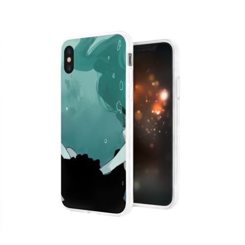 Чехол для Apple iPhone X силиконовый глянцевый  Фото 03, Хацуне под водой