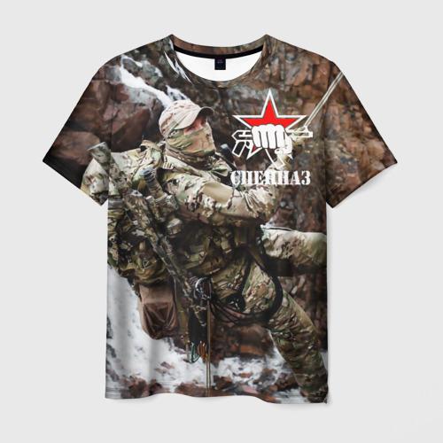 Мужская футболка 3D Спецназ России