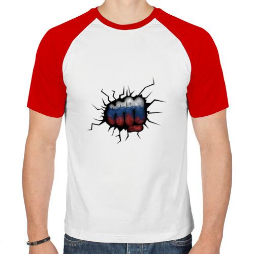 Мужская футболка реглан  Фото 01, Российский кулак
