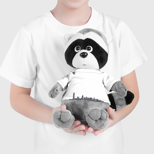 Енотик в футболке 3D  Фото 04, Город