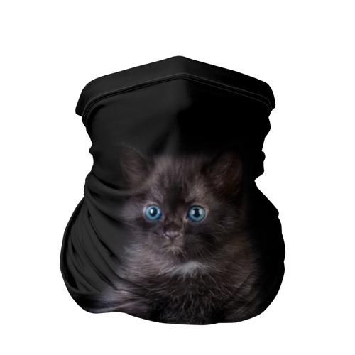 Бандана-труба 3D Чёрный котёнок